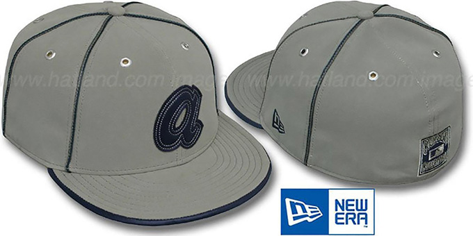 Braves COOP 'GREY DaBu' Fitted Hat by New Era : pictured without stickers that these products are shipped with