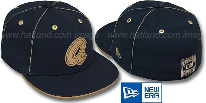 pretty nice 0c5a1 a39e1 Braves COOP  NAVY DaBu  Fitted Hat by New Era