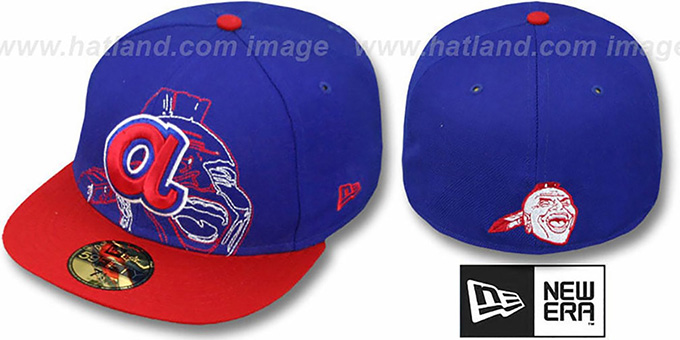 Braves COOP 'NEW MIXIN' Royal-Red Fitted Hat by New Era : pictured without stickers that these products are shipped with