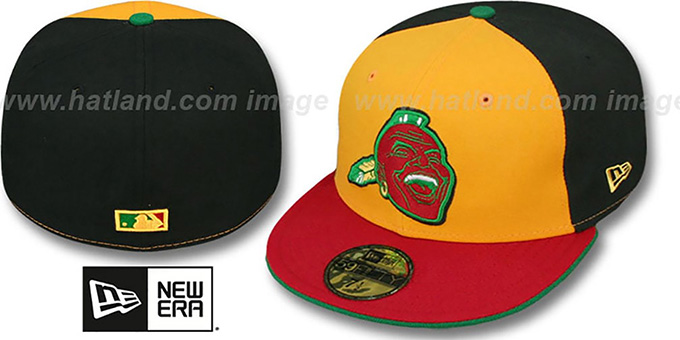 Braves COOP 'RASTA FASHION' Fitted Hat by New Era : pictured without stickers that these products are shipped with