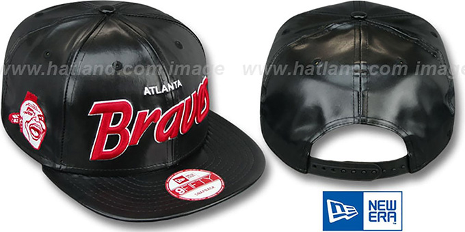 Braves COOP 'REDUX SNAPBACK' Black Hat by New Era : pictured without stickers that these products are shipped with