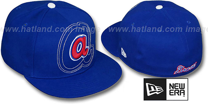 Braves COOP 'SHADOW BIG-ONE' Royal Fitted Hat by New Era : pictured without stickers that these products are shipped with