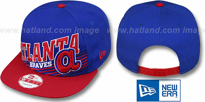 Braves Coop 'STILL ANGLIN SNAPBACK' Royal-Red Hat by New Era : pictured without stickers that these products are shipped with