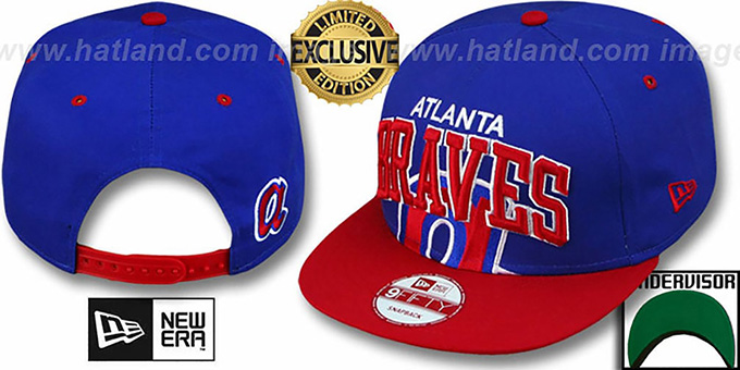 Braves COOP 'SUPER-LOGO ARCH SNAPBACK' Royal-Red Hat by New Era