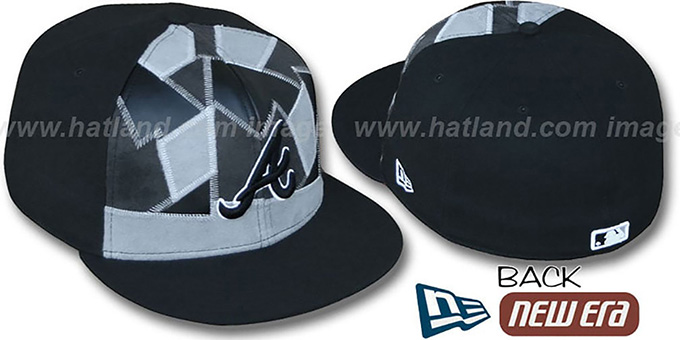 Braves 'CUT N PASTE' Fitted Hat by New Era : pictured without stickers that these products are shipped with