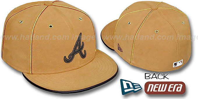 Braves 'DaBu' Fitted Hat by New Era : pictured without stickers that these products are shipped with