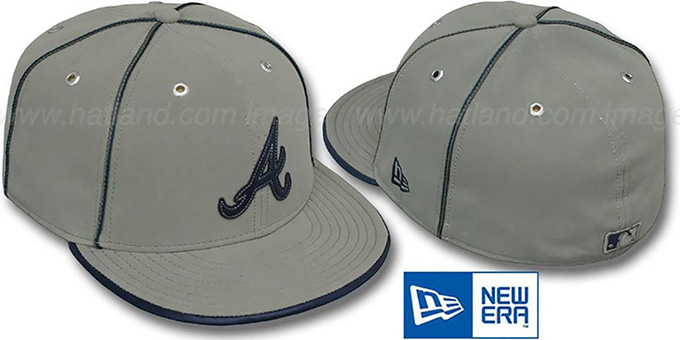 Braves 'GREY DaBu' Fitted Hat by New Era : pictured without stickers that these products are shipped with