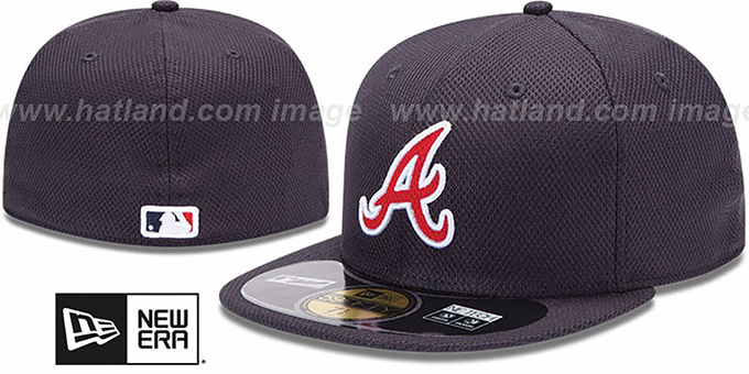 Braves 'MLB DIAMOND ERA' 59FIFTY Navy BP Hat by New Era : pictured without stickers that these products are shipped with