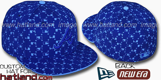 Braves 'MLB FLOCKING' Royal Fitted Hat by New Era : pictured without stickers that these products are shipped with