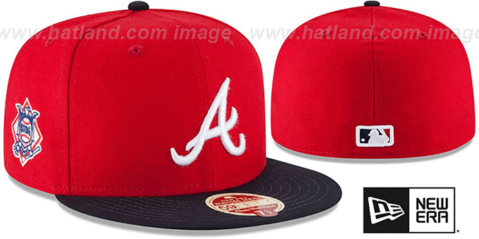 Braves  MLB WOOL-STANDARD  Red-Navy Fitted Hat by New Era 798dfe51cc0