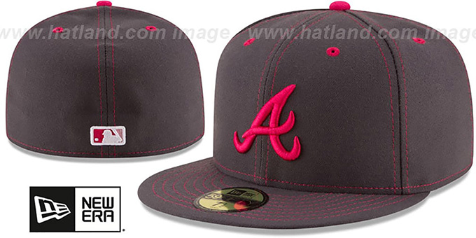 Braves 'MOTHERS DAY' Fitted Hat by New Era : pictured without stickers that these products are shipped with