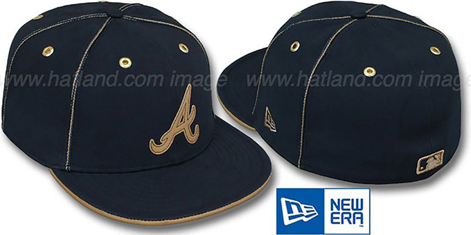 Braves 'NAVY DaBu' Fitted Hat by New Era : pictured without stickers that these products are shipped with