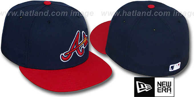 Braves 'PERFORMANCE ALTERNATE' Hat by New Era : pictured without stickers that these products are shipped with