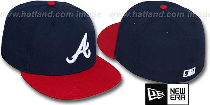 Braves 'PERFORMANCE HOME' Hat by New Era : pictured without stickers that these products are shipped with