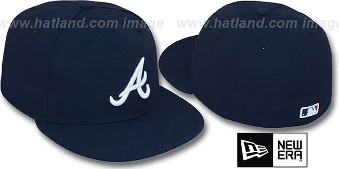 Braves 'PERFORMANCE ROAD' Hat by New Era : pictured without stickers that these products are shipped with