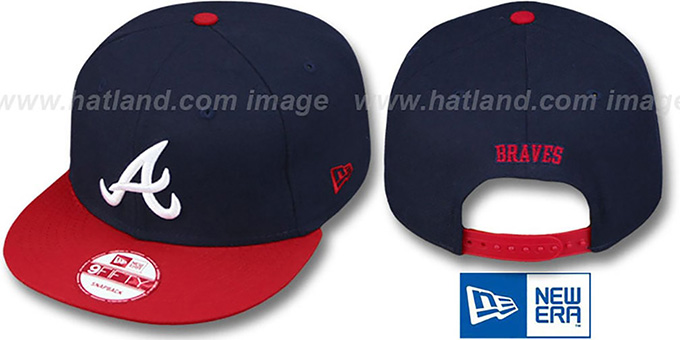 Braves 'REPLICA HOME SNAPBACK' Hat by New Era : pictured without stickers that these products are shipped with