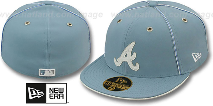 Braves 'SKY BLUE DaBu' Fitted Hat by New Era : pictured without stickers that these products are shipped with