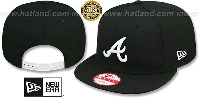d7c5130f5d8f9 Braves  TEAM-BASIC SNAPBACK  Black-White Hat by New Era