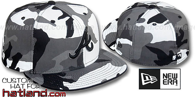 Braves 'URBAN CAMO' Fitted Hat by New Era : pictured without stickers that these products are shipped with