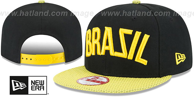 Brazil 'BOLDLY SNAPBACK' Hat by New Era : pictured without stickers that these products are shipped with