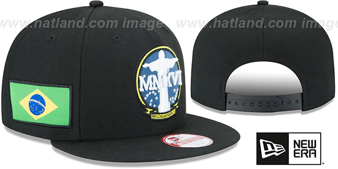 Brazil 'CHRIST STATUE SNAPBACK' Hat by New Era : pictured without stickers that these products are shipped with