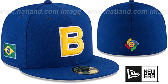 Brazil 'PERFORMANCE WBC-2' Royal Hat by New Era : pictured without stickers that these products are shipped with