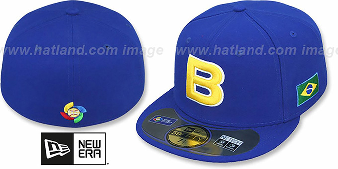 Brazil 'PERFORMANCE WBC' Royal Hat by New Era : pictured without stickers that these products are shipped with
