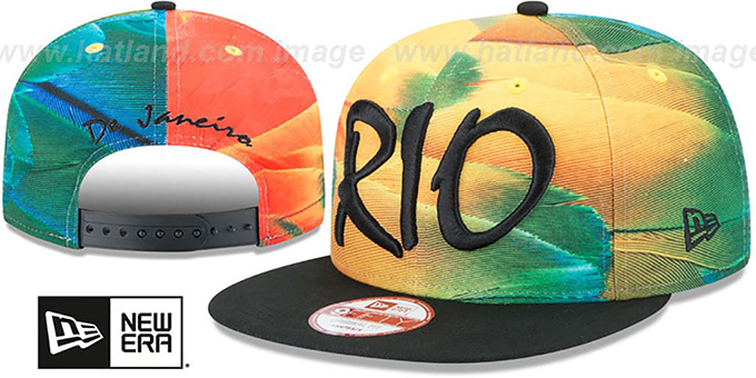 Brazil 'REALLY RIO SNAPBACK' Hat by New Era : pictured without stickers that these products are shipped with