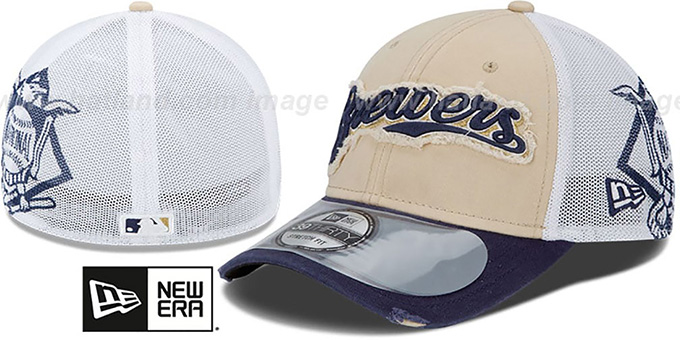 Brewers '2013 CLUBHOUSE' 39THIRTY Flex Hat by New Era : pictured without stickers that these products are shipped with