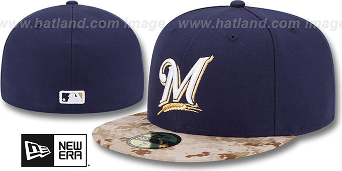 Brewers '2015 STARS N STRIPES' Fitted Hat by New Era : pictured without stickers that these products are shipped with