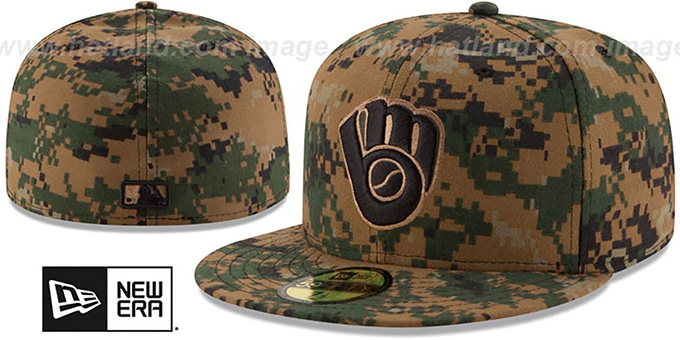 Brewers 2016 MEMORIAL DAY 'STARS N STRIPES' Hat by New Era : pictured without stickers that these products are shipped with