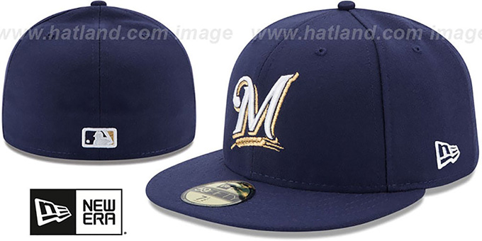 4b8de6bd324 Milwaukee Brewers AC-ONFIELD GAME Hat by New Era