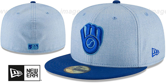 710bae6375748 Brewers  2018 FATHERS DAY  Sky-Royal Fitted Hat by New Era