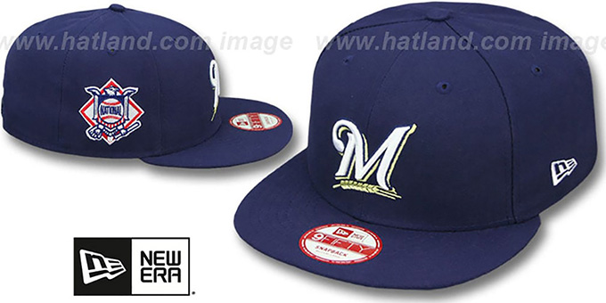 Brewers 'LEAGUE REPLICA GAME SNAPBACK' Hat by New Era : pictured without stickers that these products are shipped with
