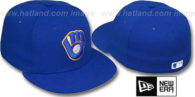 Brewers 'PERFORMANCE ALTERNATE' Hat by New Era : pictured without stickers that these products are shipped with