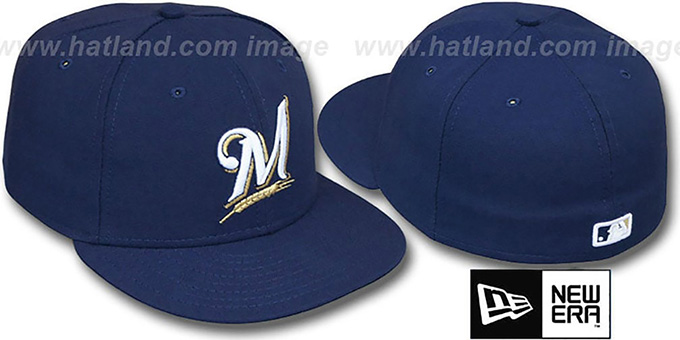 Brewers 'PERFORMANCE GAME' Hat by New Era : pictured without stickers that these products are shipped with