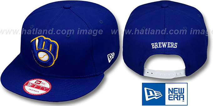 Brewers 'REPLICA ALTERNATE SNAPBACK' Hat by New Era : pictured without stickers that these products are shipped with