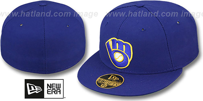 Brewers 'YOUNT' Home Hat by New Era : pictured without stickers that these products are shipped with