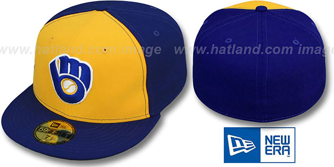 Brewers 'YOUNT' Road Hat by New Era : pictured without stickers that these products are shipped with