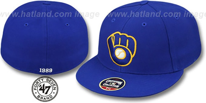 Brewers'1989 COOPERSTOWN ' Fitted Hat by Twins 47 Brand : pictured without stickers that these products are shipped with
