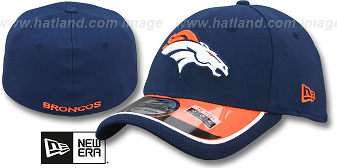 Broncos '2014 NFL STADIUM FLEX' Navy Hat by New Era : pictured without stickers that these products are shipped with
