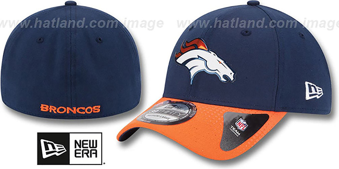 Broncos '2015 NFL DRAFT FLEX'  Hat by New Era : pictured without stickers that these products are shipped with