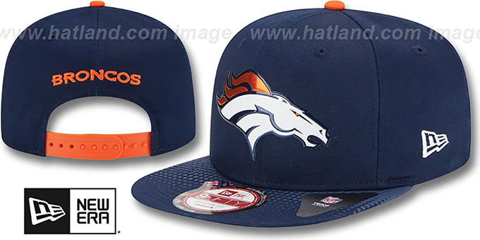 Broncos '2015 NFL DRAFT SNAPBACK' Navy Hat by New Era : pictured without stickers that these products are shipped with