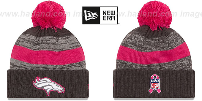 Broncos '2016 BCA STADIUM' Knit Beanie Hat by New Era : pictured without stickers that these products are shipped with