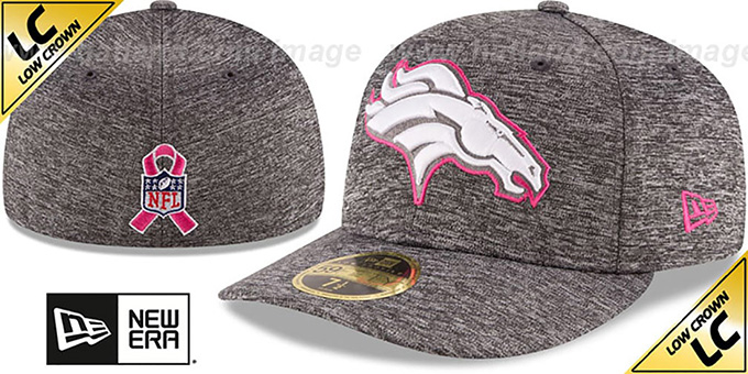 Broncos '2016 LOW-CROWN BCA' Grey Fitted Hat by New Era : pictured without stickers that these products are shipped with