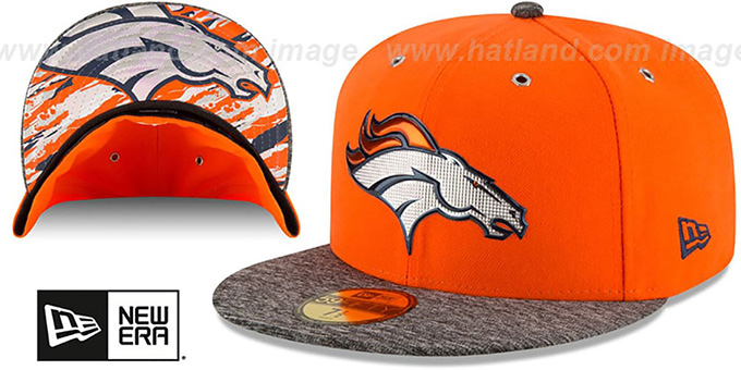 Broncos '2016 NFL DRAFT' Fitted Hat by New Era : pictured without stickers that these products are shipped with