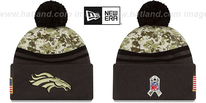 Broncos '2016 SALUTE-TO-SERVICE' Knit Beanie Hat by New Era : pictured without stickers that these products are shipped with