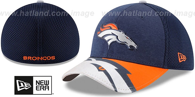 ff9d00ee2f2e74 Denver Broncos 2017 NFL ONSTAGE FLEX Hat by New Era