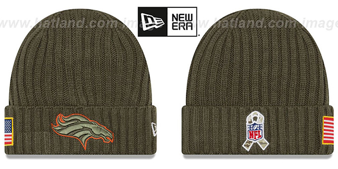 d5e5c347ea7d64 Broncos '2017 SALUTE-TO-SERVICE' Knit Beanie Hat by New Era