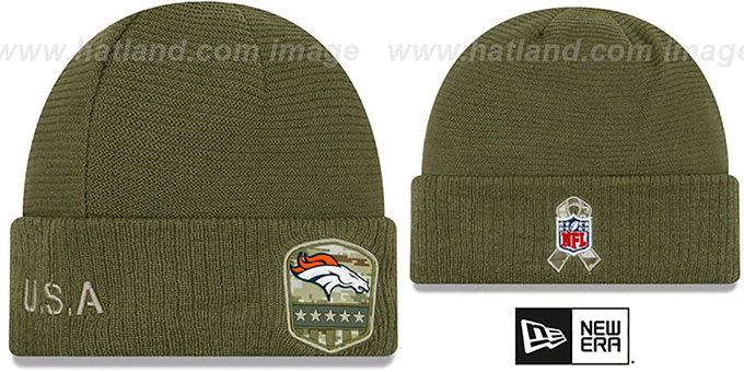 Broncos '2019 SALUTE-TO-SERVICE' Knit Beanie Hat by New Era